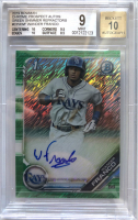 Wander Franco 2019 Bowman Chrome Prospect Autographs Green Shimmer Refractors #CPAWF RC #/99 (BGS 9) at PristineAuction.com