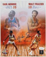 Earl Monroe & Walt Frazier Signed Knicks 8x10 Photo (JSA COA) at PristineAuction.com