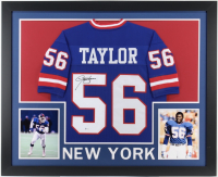 Lawrence Taylor Signed 35x43 Custom Framed Jersey (Beckett COA) (Imperfect) at PristineAuction.com