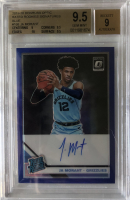 Ja Morant 2019-20 Donruss Optic Rated Rookies Signatures Blue #168 #6/49 (BGS 9.5) at PristineAuction.com