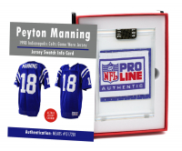 PEYTON MANNING 1998 COLTS ROOKIE YEAR GAME WORN JERSEY MYSTERY SWATCH BOX! at PristineAuction.com