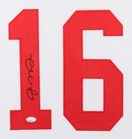 Joe Montana Signed 35x43 Custom Framed Jersey (JSA COA) (Imperfect) at PristineAuction.com