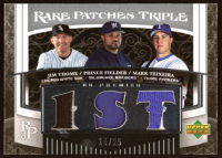 Jim Thome / Prince Fielder / Mark Teixeira 2007 Upper Deck Premier Rare Patches Triple #TFT at PristineAuction.com