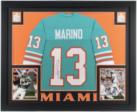 Dan Marino Signed 35x43 Custom Framed Jersey (JSA COA) (Imperfect) at PristineAuction.com