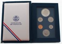 1987 United States Mint Prestige Set with (6) Coins at PristineAuction.com