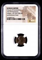 Helena - AD 324-328/30 - AE4 (Bi Nummus) - Roman Empire Bronze Coin - Posthumous Issue (NGC Encapsulated) at PristineAuction.com