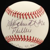 "Mike Schmidt Signed ONL Baseball Inscribed ""Phillies"" & ""MVP 80, 81, 86"" (JSA COA) at PristineAuction.com"