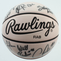 Spurs Rawlings Basketball Team-Signed by (9) with David Robinson, Sean Elliott, Will Perdue, Doc Rivers (JSA ALOA) at PristineAuction.com
