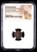 Constans - AD 337-350 - AE4 Bi Nummus - Roman Empire Bronze Coin (NGC Encapsulated) at PristineAuction.com
