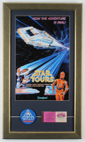 "Disneyland ""Star Tours"" 15x26 Custom Framed Print Display With Lapel Pin & Vintage Ticket Book at PristineAuction.com"