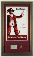 "Disneyland ""Pirates of the Carribbean"" 16x26 Custom Framed Print Display With Lapel Pin & Vintage Ticket at PristineAuction.com"