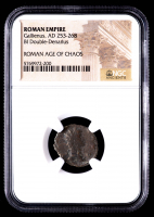 Gallienus - AD 253-268 - Bi Double-Denarius Silvering - Roman Empire Bronze Coin (NGC Encapsulated) at PristineAuction.com