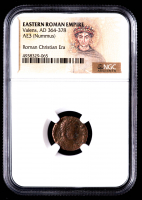 Valens - AD 364-378 -AE3 (Nummus) - Eastern Roman Empire Bronze Coin (NGC Encapsulated) at PristineAuction.com