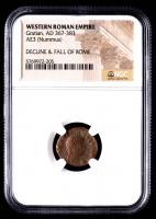 Gratian - AD 367-383 - AE3 (Nummus) - Western Roman Empire Bronze Coin (NGC Encapsulated) at PristineAuction.com