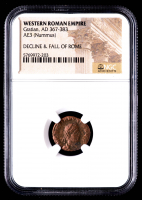 Gratian - AD 367-383 - AE3 (Nimmus) - Western Roman Empire Bronze Coin (NGC Encapsulated) at PristineAuction.com