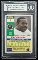 Mike Singletary Signed 1990 Score #3 (BGS Encapsulated) at PristineAuction.com