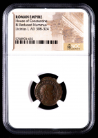 Licinius I - AD 308-324 - BI Reduced Nummus - Roman Empire Bronze Coin - House of Constantine (NGC Encapsulated) at PristineAuction.com