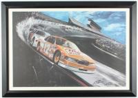 "Bobby Allison ""NASCAR Daytona 500"" 20.5x28.5 Custom Framed Lithograph at PristineAuction.com"