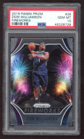 Zion Williamson 2019-20 Panini Prizm Fireworks #26 (PSA 10) at PristineAuction.com