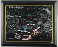 "Sam Bass ""Dale Earnhardt"" 18.5x22.5 Custom Framed Lithograph Display at PristineAuction.com"