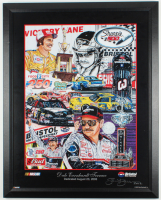 """Sam Bass Signed Dale Earnhardt """"Terrace"""" 23.5x30 Custom Framed Lithograph Display (PA LOA) at PristineAuction.com"""