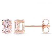 Morganite .925 Sterling Silver Earrings at PristineAuction.com