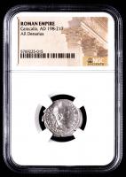 Caracalla AD 198-217 - AR Denarius - Roman Empire Silver Coin (NGC Encapsulated) at PristineAuction.com
