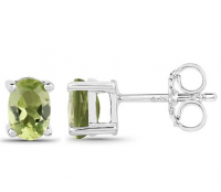 Peridot .925 Sterling Silver Earrings at PristineAuction.com