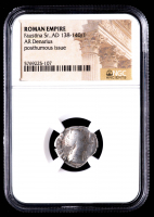 Faustina Sr.  AD 138-140/1 - AR Denarius - Roman Empire Silver Coin - Posthumous Issue (NGC Encapsulated) at PristineAuction.com