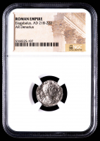 Elagabalus, AD 218-222 - AR Denarius - Roman Empire Silver Coin (NGC Encapsulated) at PristineAuction.com