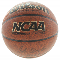 "John Wooden Signed NCCA Basketball Inscribed ""UCLA"" (Beckett COA) at PristineAuction.com"