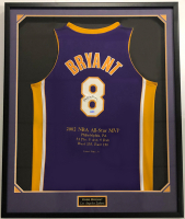 Kobe Bryant Signed Lakers 37x44 Custom Framed LE 2002 NBA All-Star Highlight Jersey (UDA Hologram) at PristineAuction.com