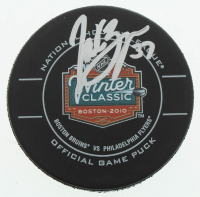 Patrice Bergeron Signed 2010 Winter Classic Hockey Official Game Puck (Bergeron Hologram & YSMS COA) at PristineAuction.com