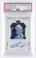 Ken Griffey Jr. 2019 Panini National Treasures Hall of Fame Signatures Gold #12 (PSA 5.5) at PristineAuction.com