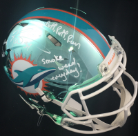 Ricky Williams Signed Dolphins Full-Size Authentic On-Field Chrome Speed Helmet with Multiple Inscriptions (JSA COA) at PristineAuction.com