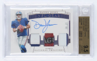 Daniel Jones 2019 Panini National Treasures Rookie NFL Gear Signature Trios Prime #2 (BGS 9.5) at PristineAuction.com