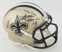Alvin Kamara Signed Saints Speed Mini Helmet (Beckett COA) at PristineAuction.com