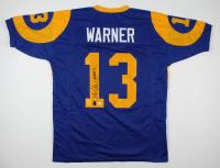 """Kurt Warner Signed Jersey Inscribed """"HOF 17"""" (Beckett COA & Warner Hologram) at PristineAuction.com"""