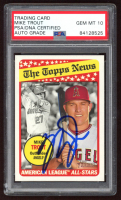 Mike Trout Signed 2018 Topps Heritage #47 (PSA Encapsulated) at PristineAuction.com