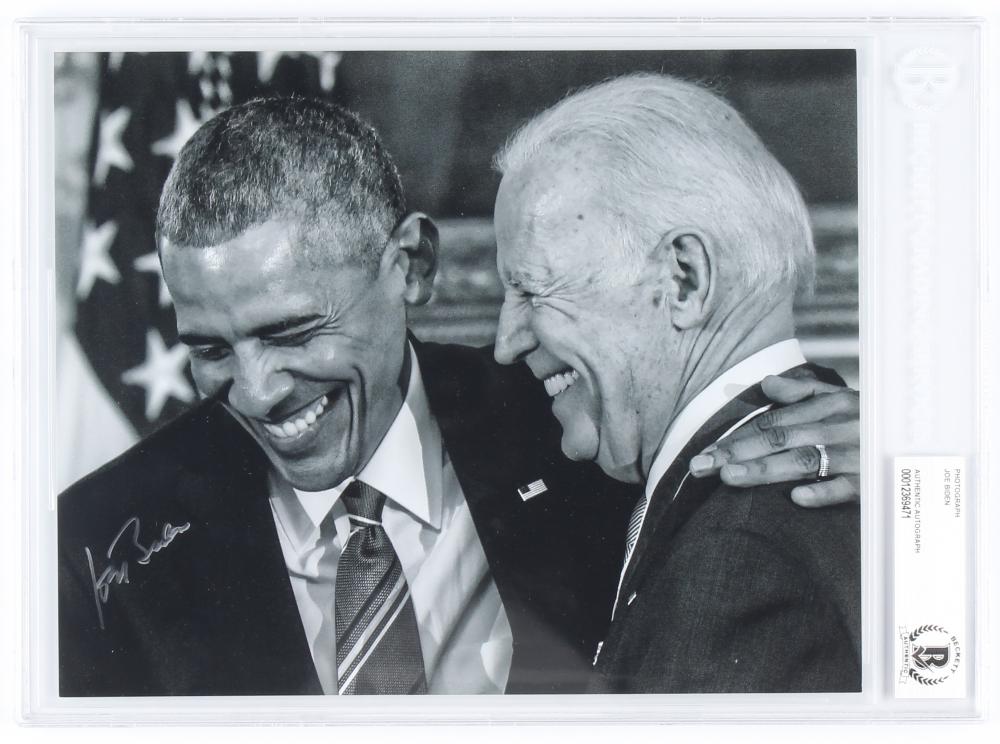 Joe Biden Signed 8x10 Photo (Beckett Encapsulated) at PristineAuction.com