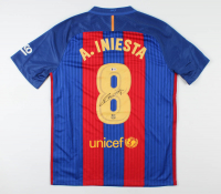 Andres Iniesta Signed FC Barcelona Jersey (Beckett COA) at PristineAuction.com