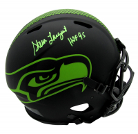 "Steve Largent Signed Seahawks Full-Size Authentic On-Field Eclipse Alternate Speed Helmet Inscribed ""HOF '95"" (Beckett COA) at PristineAuction.com"