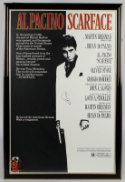 """Al Pacino Signed """"Scarface"""" 29x43 Custom Framed Poster Display with Card (JSA LOA) at PristineAuction.com"""