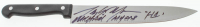 "Tony Moran Signed ""Halloween"" Stainless Steel Knife Inscribed ""Michael Myers"" & ""H1"" (Legends COA) at PristineAuction.com"