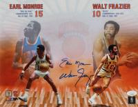 Earl Monroe & Walt Frazier Signed Knicks 11x14 Photo (JSA COA) at PristineAuction.com