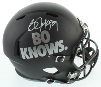 Bo Jackson Signed Raiders Full-Size Matte Black Speed Helmet (Beckett COA) at PristineAuction.com