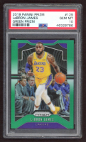 LeBron James 2019-20 Panini Prizm Prizms Green #129 (PSA 10) at PristineAuction.com