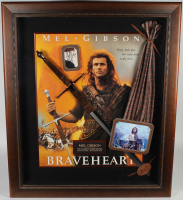 "Mel Gibson Signed ""Braveheart"" 41.5x49 Custom Framed Cut Display with Replica Sword & Sash Inscribed ""93"" (JSA Hologram) at PristineAuction.com"