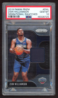 Zion Williamson 2019-20 Panini Prizm Sensational Swatches #1 (PSA 10) at PristineAuction.com