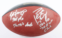"Brett Favre & Peyton Manning Signed LE ""70K Passing Yards & 500 Passing Touchdowns Club"" ""The Duke"" NFL Game Ball With Multiple Inscriptions (Radtke COA & Fanatics Hologram) at PristineAuction.com"